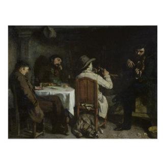 Carte Postale Après dîner chez Ornans, 1848