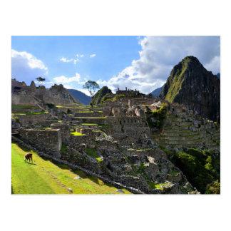 Carte Postale Après-midi de Machu Picchu, Pérou