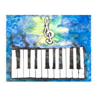 Carte Postale Aquarelle de piano