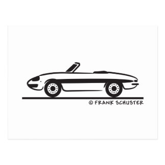 Carte Postale Araignée 1966 d'Alfa Romeo Duetto Veloce