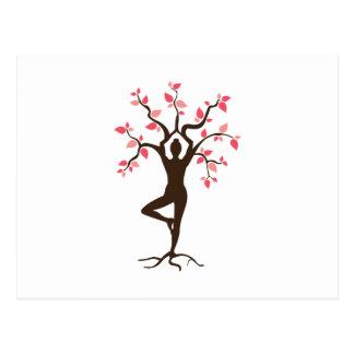 Carte Postale Arbre de yoga