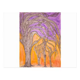 Carte Postale Arbres d'épine de chameau