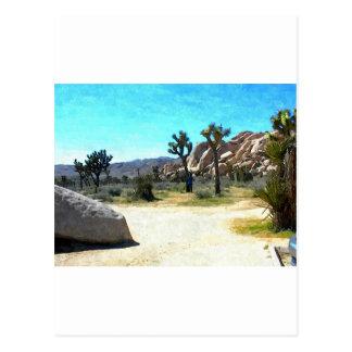 Carte Postale Arbres et roches de Joshua