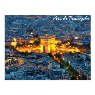 Carte Postale Arc de Triomphe, Paris, France