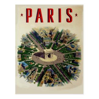 Carte Postale Arc de Triomphe vintage Paris