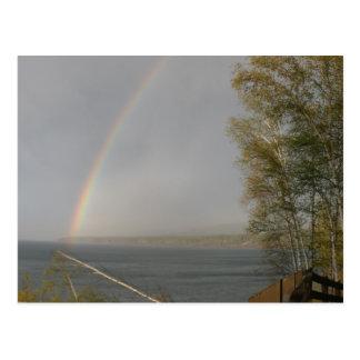 Carte Postale Arc-en-ciel au-dessus du lac Supérieur