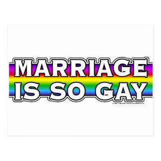 Carte Postale Arc-en-ciel de mariage homosexuel