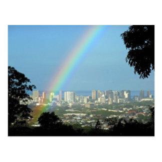 Carte Postale Arc-en-ciel de Waikiki