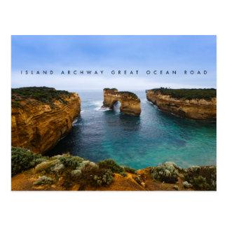 Carte Postale Arcade d'île sur la grande route d'océan,