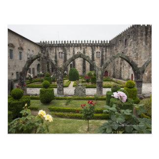 Carte Postale Archevêque Palace Of Braga avec le jardin