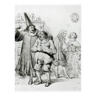 Carte Postale Argan et Monsieur Purgon