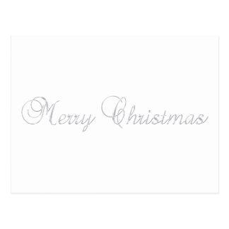 Carte postale argentée de Joyeux Noël