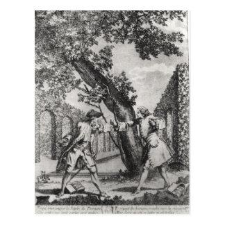 Carte Postale Argument entre Jean-Jacques Rousseau