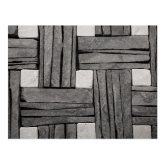 Carte Postale Armure de panier de mur en pierre