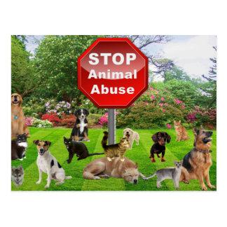 Carte Postale Arrêtez l'abus animal