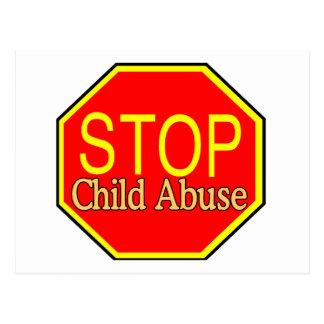 Carte Postale Arrêtez le mauvais traitement à enfant