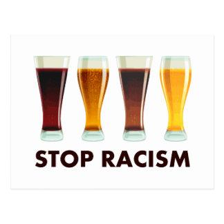 Carte Postale Arrêtez l'égalité de bière de racisme d'alcool