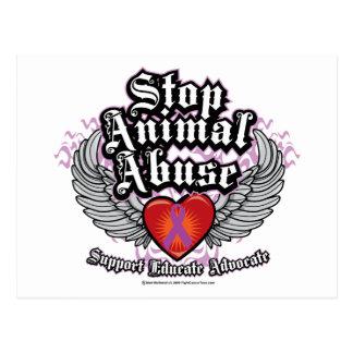 Carte Postale Arrêtez les ailes animales d'abus