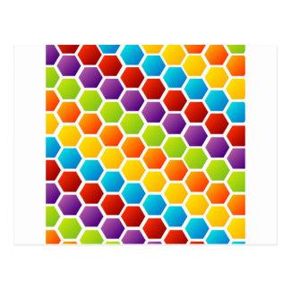 Carte Postale Arrière - plan avec l'hexagone coloré