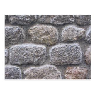 Carte Postale Arrière - plan gris de mur en pierre