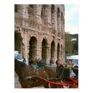 Carte Postale Arrivée chez le Colosseum