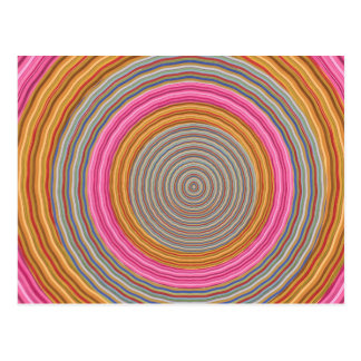 Carte Postale Art101 couleur chaude grande - cercles de