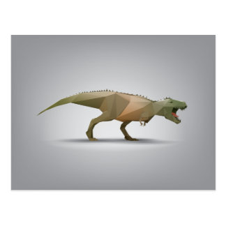 Carte Postale Art abstrait polygonal de Rex de Tyrannosaurus de