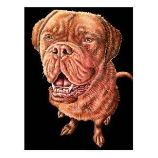 Carte Postale Art d'animal de dessin de chien de mastiff de