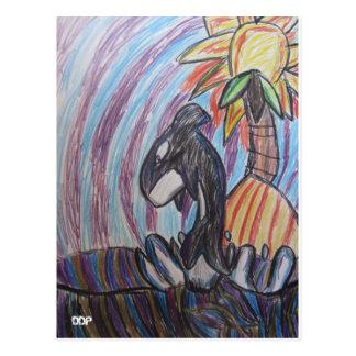 Carte Postale Art de baleine de mise à mort