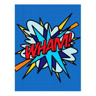 Carte Postale Art de bruit de bande dessinée VLAN !