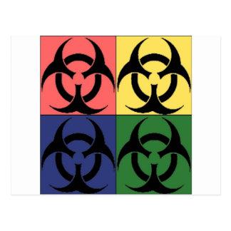 Carte Postale Art de bruit de Biohazard