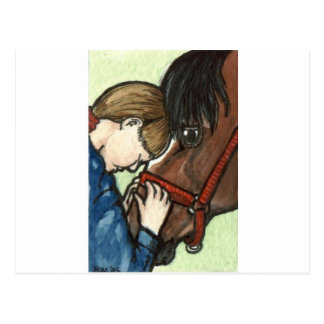 Carte Postale Art de cheval d'amour de poney