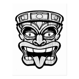Carte Postale art de Hawaïen de masque de tiki