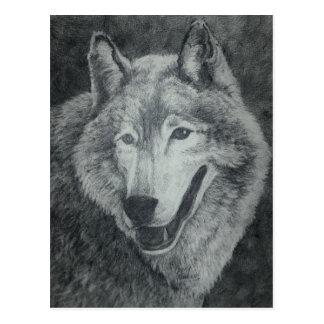 Carte Postale Art de loup