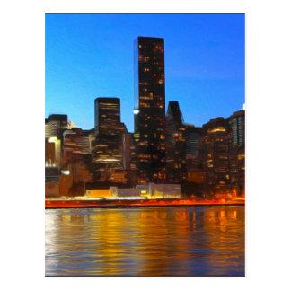 Carte Postale Art de nuit de ville