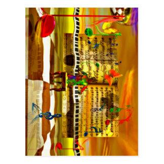 Carte Postale Art de piano