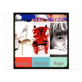 Carte Postale Art de Saint Louis pour l'autisme