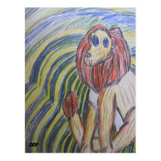 Carte Postale art deux de lion