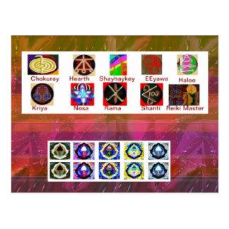 Carte Postale Art d'image MULTIPLE - Reiki Karuna holistique