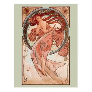 Carte Postale Art Nouveau - danse