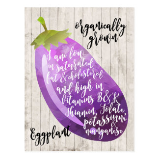 Carte Postale art organique d'aubergine d'aubergine