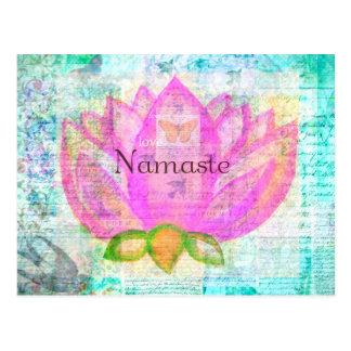 Carte Postale Art paisible ROSE de Namaste LOTUS