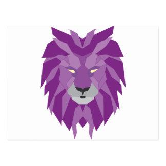 Carte Postale art pourpre de vektor de lion