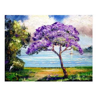 Carte Postale Art tropical d'arbre de Jacaranda
