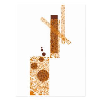 Carte Postale Art vigilant orange de sculpture en agrume d'agent