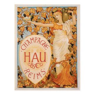Carte Postale Art vintage d'annonce de boissons de vin de