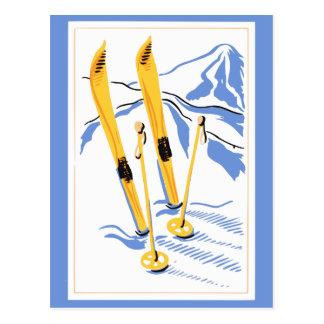 Carte Postale Art vintage de ski