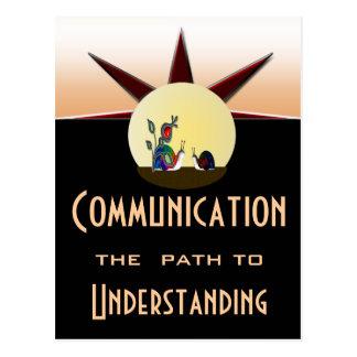 Carte Postale Artère de communications à la compréhension