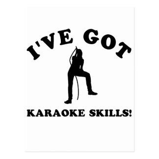 Carte Postale articles de cadeau de compétence de karaoke