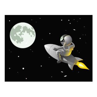 Carte Postale Astronaute à la lune
